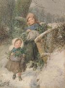 Frederic james Shields,ARWS The Holly Gatherers (mk46) oil painting artist